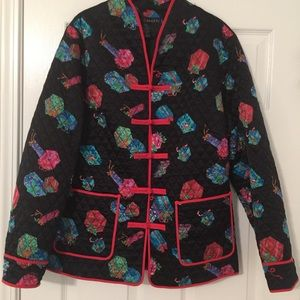 Silk Quilted Christmas Jacket